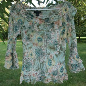LIMITED Silk Floral Top size XS